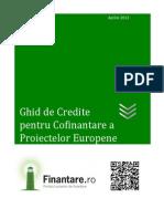 Ghid Credite Cofinantare Proiecte Europene