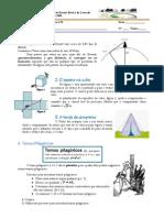 Ficha de Trabalho Sobre o Teorema de Pitagoras