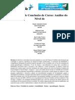 Verificação da satisfação do curso de Contabilidade