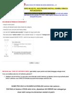 Cara Install Pes 2013 (Reloaded Version)