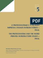 O protestantismo e a palavra impressa - ensaios introdutórios