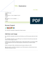 2.HTML Doctype Declaration