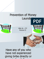 Prevention of Money