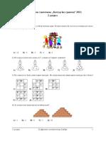 Kengur Bez Granica - 2013 - Test Za 2. Razred