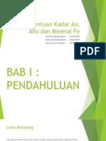 Kadar Air, Abu Dan Mineral