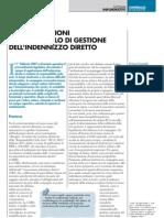 PRIME RIFLESSIONI SUL CONTROLLO DI GESTIONE DELL'INDENNIZZO DIRETTO