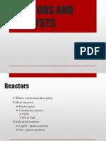 Reactors and Catalysts
