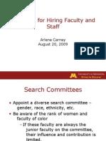 Hiring Staff & Faculty 09