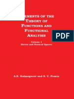 A.N. Kolmogorov, S.v. Fomin-Elements of the Theory of Functions and Functional Analysis, Volume 1, Metric and Normed Spaces-GRAYLOCK PRESS (1963)