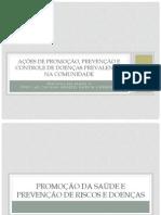Ações de promoção de saúde de doenças prevalentes 2014