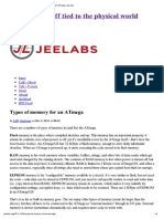Types of memory for an ATmega JeeLabs