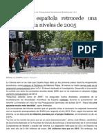 La ciencia española retrocede hasta 2005