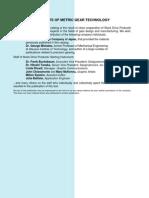 Elements of Metric Gear Technology