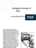 The Sociological Climate of Italy