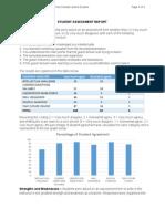 Student Assessment Report