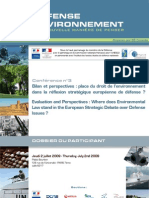 Dossier Du Participant conférence Défence et environnement