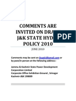 Jammu and Kashmir State Hydel Policy 2010