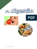 Digestão de alimentos no tubo digestivo