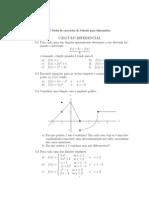 Exercicios calculo diferencial