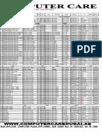 Computer Care Pricelist