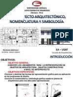 Anteproyecto Arquitectonico Nomenclatura y Simbologia Tecnicas i