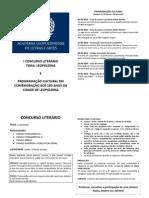 CONCURSO LITERÁRIO email