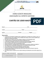 Cartão Líder Master JA - ASES - 2013