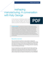 Radically Reshaping Manufacturing a Conversation With Katy George