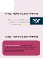 Global Marketing Environment Economic Environment