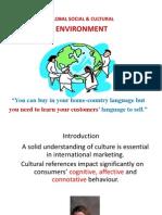 Global Social Cultural Environment