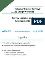 MICS4 WS1 - 405 - Survey Logistics and Arrangements