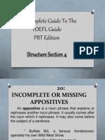 TOEFL - Structure 4.0