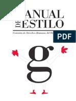 CDHDF, Manual de Estilo