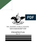 Bal Bharti Prospectus