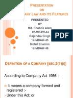 Presentation on Company Iaw