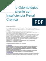Manejo Odontológico del Paciente con Insuficiencia Renal Crónica
