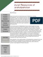 The Natural Resources of Karakalpakstan