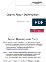 Cognos Report Development Tips and Tricks Ver3