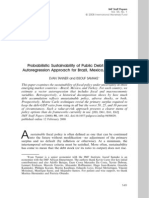 Probabilistic Sustainability of Public Debt - A Vector Autoregression Approach