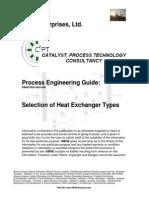 selection of heatexchanger types