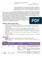 Planificacion Inglés 1er año 2014 - Yohana Solis