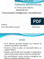Emocinalna inteligencija i menadžment