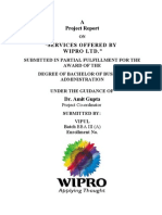 Project on Wipro Ltd