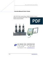 CBS Power Products User Guide Manual for Epoxy Molded Vacuum Recloser