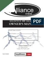 Manual de Caminadora Alliancefitness 800