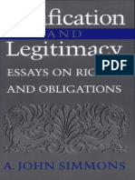 John Simmons Justification and Legitimacy Essays on Rights and Obligations 2000