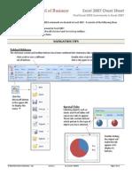 Excel 2007 CheatSheets