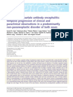 NMDA Antibody Encephalitis - Temporal Progression of Clinical and Paraclinical Observations in Predominantly Non-paraneoplastic Disorder of Both Sexes