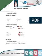 PDF Exercises What Do You Like