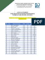 Burse Profesionale Sem 2 2013_2014